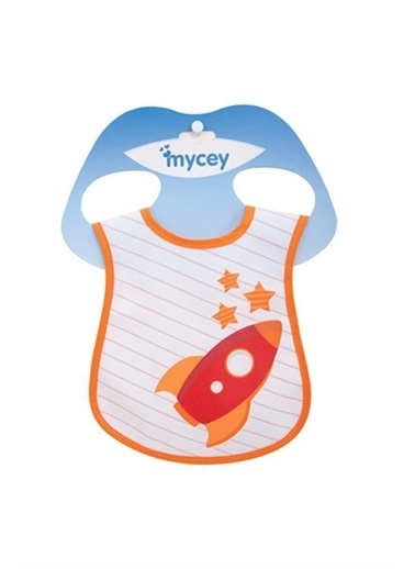 MYCey MYcey Leke Tutmaz Ve Kolay Yıkanabilen Roket Figürlü Renkli Bebek Mama Önlüğü Renkli
